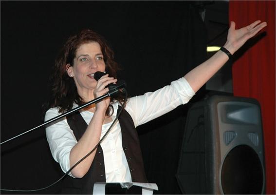 Katrin Höpker im Polizeipräsidium