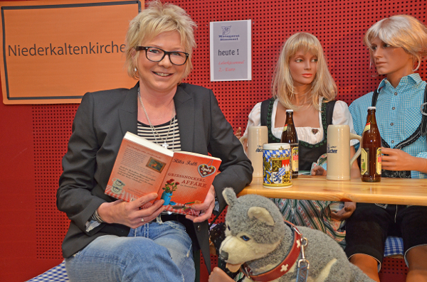 Rita Falk im Bonner Polizeipräsidium