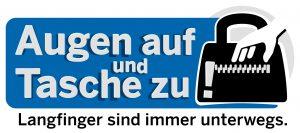 Logo der Kampagne Augen auf und Tasche zu!